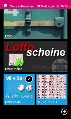 Neue Lottoscheine